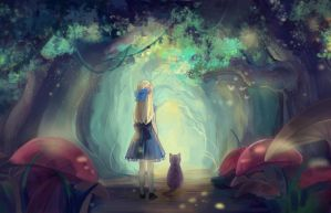 Alice in Wonderland by LareOne