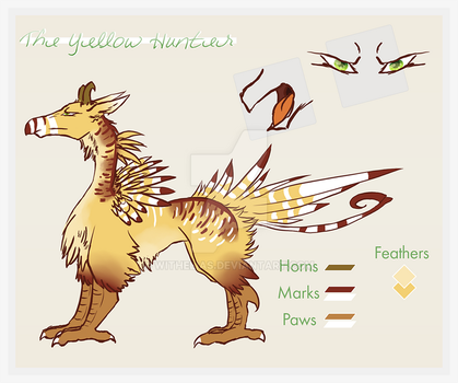The yellow hunter adoptable OPEN by Withelias