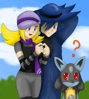 AT:Josie,Riley and lucario by ss2sonic