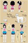 Prissy Kitty Model Sheet by taeray