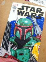 Boba Fett Star Wars Sketch Cover by TonyMiello