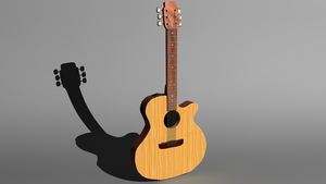 Acoustic Guitar 3D by Krayzieee