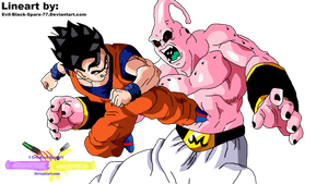 Gohan vs Super Buu by Evil-Black-Sparx-77