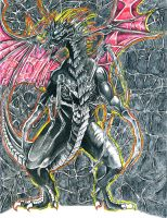 Black Spider Dragon by Prophecy-Inc