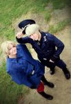 Hetalia Cosplay - France and Prussia by TokyoStripper