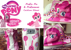 Commission: Pinkie Pie Custom Shoes by XxPonyPuffPrincessXx