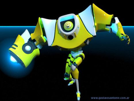 Robot 3d by GS-Dracko