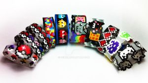 Hama beads bangles by uenkii