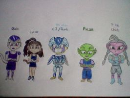 all my DBZ O.C. hero children by MinkisBaby