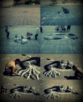 My first 3D art on street (how i done it) by Saules-dievas
