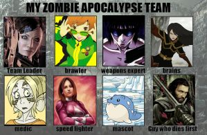 My Zombie Apocalypse Team by x-22
