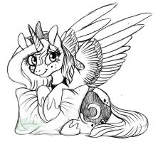 .:Filly Luna:. by CrimsonPencil94