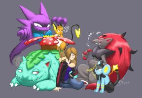 My Pokemon Team by ThreadandClaws