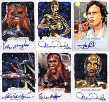 Star Wars Illustrated sketchagraphs. by Kapow2003