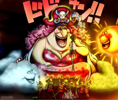 One Piece 853 - Big Mom loving Brook colored vers. by Hanayo-Nao