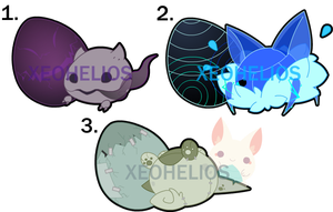Monster Hatchling Adoptables Set 3: CLOSED by Xeohelios