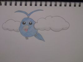 Pokemon Swablu sketch Coloured by Megalomaniacaly