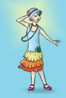 20s Rainbow Dash by Aldriona