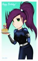 GIFT: Happy Birthday, MissFuturama! by GodzillaJAPAN