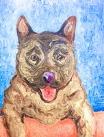 Painting of a Dog by Dunn95