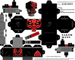 Darth Maul Ver. Clone Wars Cubeecraft by JagaMen