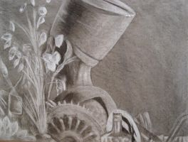 Still-life With Charcoal by Felos