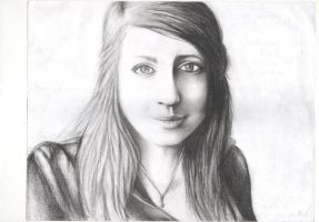 Pencil drawing of me by doveangel123