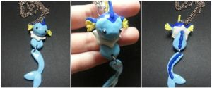 Vaporeon necklace commission by kunoo