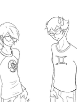 Day 23: Sollux and Dave by RemiNyao