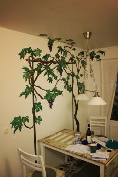 grape vine wall by coffeecookiecat