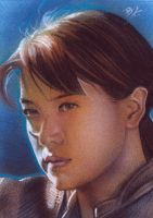 Athena sketch card by Ethrendil