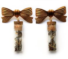 Watchmakers Vials Earrings by asunder