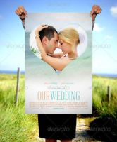 Beautiful Hand Holding Poster Mockup Template by loswl