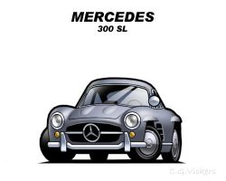 Chibi Mercedes 300 SL by CGVickers