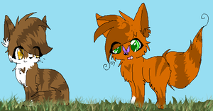 SquirrelFlight and Leafpool by NinjaPixelization