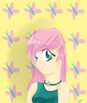 Human Fluttershy by ChaoticDiscord