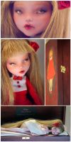 Ruby - Monster High Draculaura OOAK Doll by Szklanooka