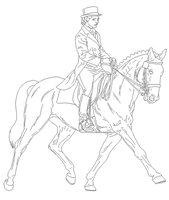 Dressage Lineart by Alison-K