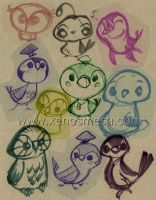 Birdy Sketch Collage by 231705