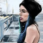 female face study - cartoonish/realistic style by speedy-painter
