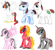 All my teachers as ponies by IamACreativeChipmunk