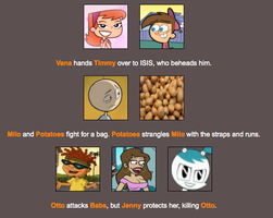 The potatoes attack Milo because... potatoes by Ben12066