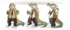 Mister croc Turn around by AlexDeB