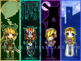 LoZ Chibi Bookmark Wallpaper by sambees