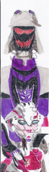 Blitzwing and Arcee bookmark by Metalchick36