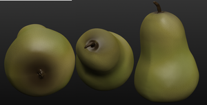 3D Pear by Leopardenschweif
