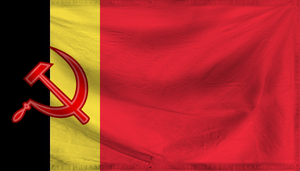 Communist Belgium Flag by HeerSander