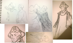 Frollo sketches by MAYUKUROCHAN