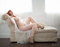 Cat RoPo reclining nude by Scottworldwide