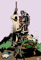 Monster Hunter   Mignola style by AMBONE105